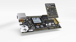 SoC wireless multi-protocollo Mighty Gecko a basso consumo di Silicon Labs e relatica scheda di sviluppo