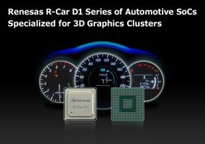 La serie R-Car D1 di Renesas per i quadri di strumentazione 3D è supportata dalle 170 aziende  del consorzio R-Car